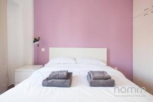 Ein Bett oder Betten in einem Zimmer der Unterkunft Apartment 102m² - Roof Garden with Acropolis View
