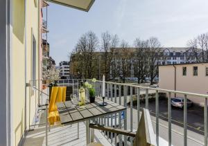 Ein Balkon oder eine Terrasse in der Unterkunft Swiss Star Guesthouse District 3 - contactless self check-in