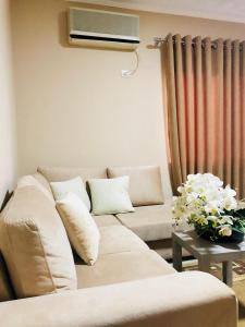 A seating area at Modern & Spacious 2 Bedroom in the center of Tirana