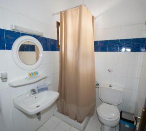 Koupelna v ubytování Corfu Room