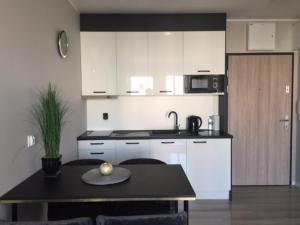 A kitchen or kitchenette at BT Brama Portowa