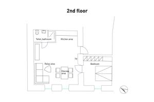 Plán poschodí v ubytovaní Barbakan