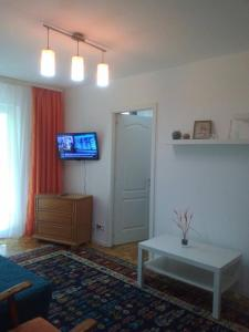 A television and/or entertainment center at Apartament Florica