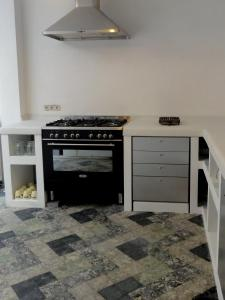 Cuisine ou kitchenette dans l'établissement Villa Pladijs
