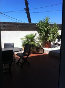 Ein Balkon oder eine Terrasse in der Unterkunft Gîte Polema
