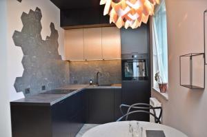 Kuchnia lub aneks kuchenny w obiekcie Apartament Nowa Grobla