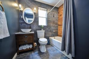 A bathroom at The Ledder House 5