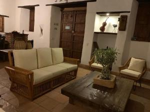 A seating area at Casa Real Barichara