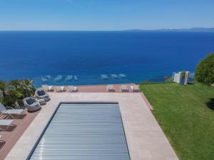 A view of the pool at Luxury villa Luna on the cliff w/ heated pool or nearby