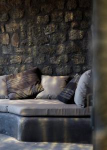 Letto o letti in una camera di Villa Calypso
