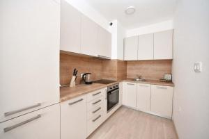 A kitchen or kitchenette at Luxury Fontana Apartments