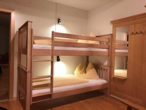 A bunk bed or bunk beds in a room at Stallerhof