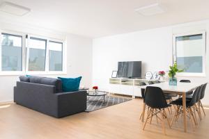 Predel za sedenje v nastanitvi Stunning Beach Apartments in Split