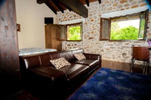 Zona de estar de Apartamentos Rurales Larrago