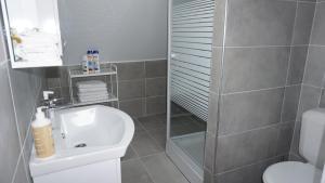 A bathroom at Sint-Jans Appartments