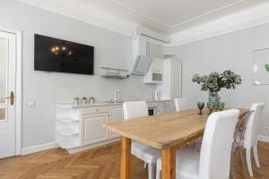 Virtuvė arba virtuvėlė apgyvendinimo įstaigoje Modern History Apartment