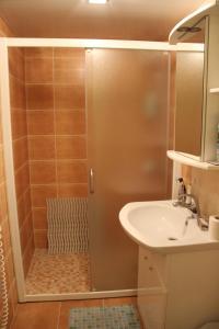 Vonios kambarys apgyvendinimo įstaigoje Kalnas apartaments
