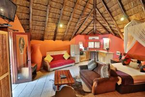 A seating area at Manzini Chalets