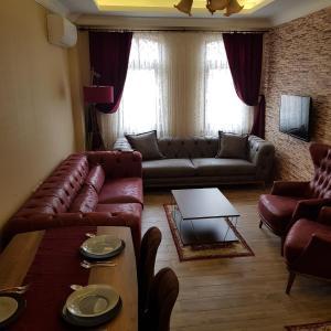 Seating area sa Hisar Apart & Pansiyon