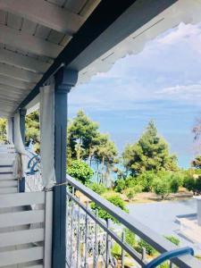 A balcony or terrace at Aelia Sea View Studios