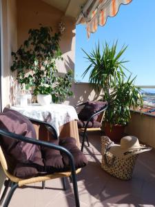 Balkón nebo terasa v ubytování Apartment Anita with amazing sea view