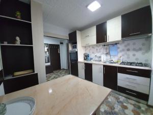 Kitchen o kitchenette sa Apartment Ada Kaleh