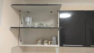 A kitchen or kitchenette at House on Borgustanskaya 12