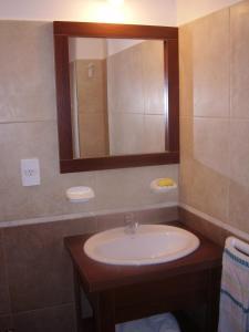 A bathroom at Departamentos Altos del Centro