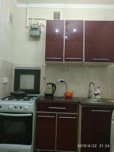 """A kitchen or kitchenette at Apart hotel """"Chinar"""""""