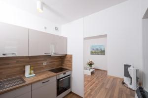 A kitchen or kitchenette at Apartments am Brandenburger Tor