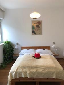 Кровать или кровати в номере Appartement-Innsbruck