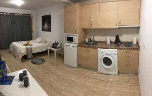Una cocina o zona de cocina en Apartamentos Villa Livia