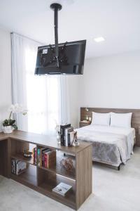 Телевизия и/или развлекателен център в Q Jacques Pilon Residence