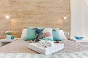Cama o camas de una habitación en Ribadomar Caion