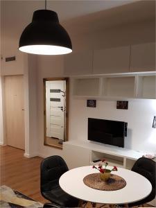 Posezení v ubytování Apartament Zamkowy