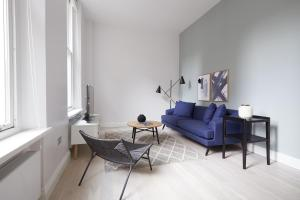 A seating area at Sonder — Virginia House