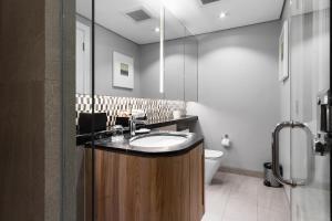 A bathroom at Ascott Makati
