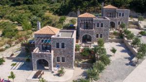 A bird's-eye view of Salakos Villas