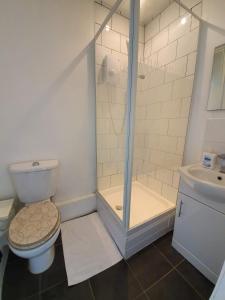 A bathroom at Destination-2 three