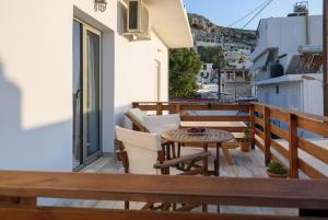 A balcony or terrace at Ageliki Studio