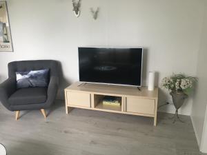 Televiisor ja/või meelelahutuskeskus majutusasutuses Smárinn Apartment