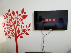 Una televisión o centro de entretenimiento en Peatonal