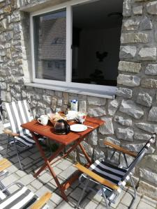 Breakfast options available to guests at Apartma Natura Kope