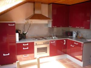 Küche/Küchenzeile in der Unterkunft Ferienwohnung Aksana