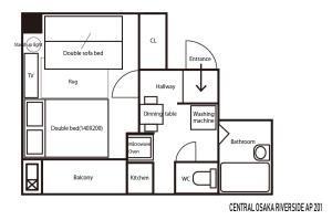 แผนผังของ CENTRAL OSAKA RIVERSIDE AP 201