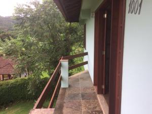 A balcony or terrace at Casa de Montanha em S.Pedro