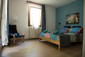 Area soggiorno di Appartamento con giardino Le Querce
