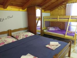 A bunk bed or bunk beds in a room at Apartments Vidic