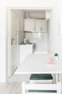 A kitchen or kitchenette at Lulu Apartment