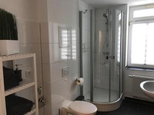 Ein Badezimmer in der Unterkunft Katrin